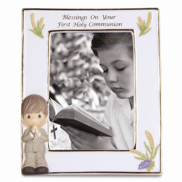 Pmi Boys First Communion Porcelain Photo Frame