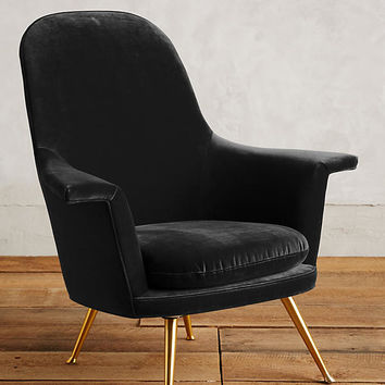 Velvet Kimball Chair