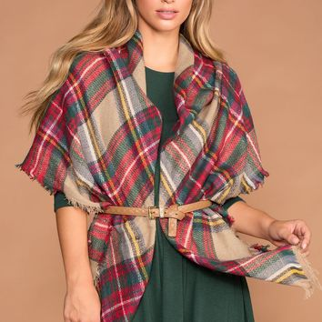 Madison Plaid Blanket Scarf