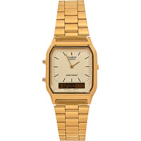 River Island MensGold tone Casio square watch