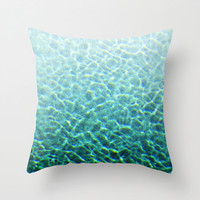 Pool Water 2 - Throw Pillow Cover, Turquoise Blue Green Surf Ombre Style, Boho Chic Beach Coastal Accent. In 14x14 16x16 18x18 20x20 26x26
