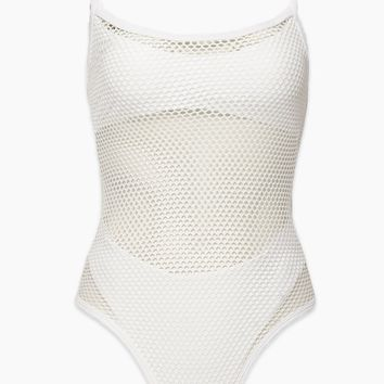 Mesh Madness One Piece Swimsuit - White