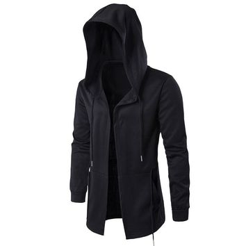 Black Cardigan Assassin Creed Hoodie Mens Hoodies Jackets Black Cosplay Sweatshirt Thin section hooded cloak cape windbreak coat
