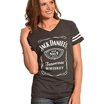 Jack Daniels Women's Grey Label Football T-Shirt - 15361499Jd-79