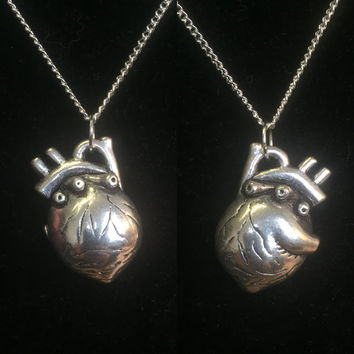 Large Anatomical Heart Pendant