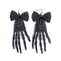 Flat Lined Skeleton Earrings