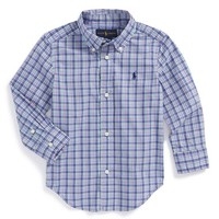 Boy's Ralph Lauren 'Blake' Long Sleeve Woven Sport Shirt,