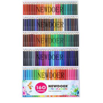 NEWDOER 160 different Colored Pencils Lapis De Cor Professionals Artist Painting Pencil For Drawing Sketch Art Stationery pencil