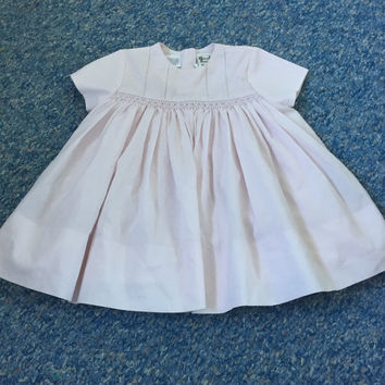 SARAH LOUISE pink hand smocked summer Dress Baby Girls Clothes 6 Months