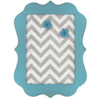 Turquoise, White & Gray Chevron Message Board | Shop Hobby Lobby
