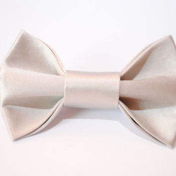 Grey bow tie Men's bow tie Gift idea for men Boyfriend Boys bowtie Groomsmen bowtie Gift for boyfriend Wedding bow tie Anniversary gifts