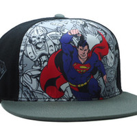 DC Comics Superman Comic Collage Snap-back Cap for Adults