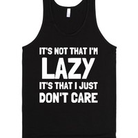 I'm Not Lazy-Unisex Black Tank