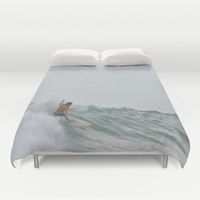 morning surf Duvet Cover by RichCaspian