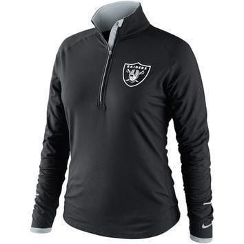nike oakland raiders women s conversion half zip performance jacket black