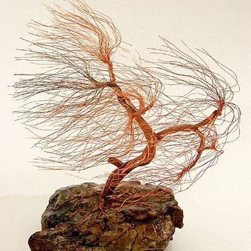 windswept copper wire tree sculpture 1441 FREE by Huremovic