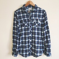 Haven Dark Blue Flannel