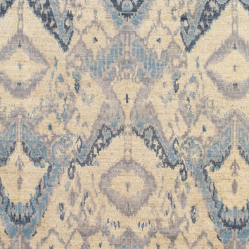 Momeni Wings of the Ikat Hand-Knotted Rug - Blue