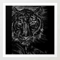 tiger Art Print by Anna Wolford