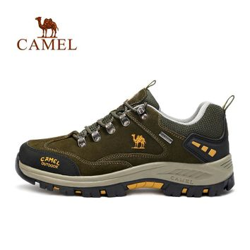 CAMEL Brand popular Outdoor Sports Hiking Shoes For Men Waterproof Anti-skid Climbing Fishing Camping Trekking Sneakers