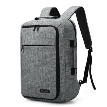 15.6 Laptop Backpack Convertible Briefcase 2-in-1 Business Travel Luggage Carrier