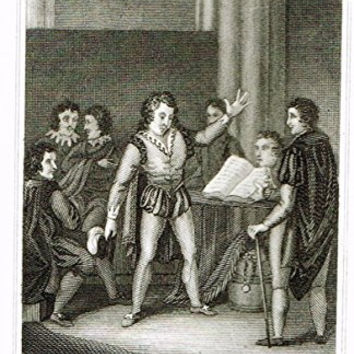 Miniature History of England - HAROLD'S OATH BEFORE WILLIAM DUKE OF NORMANDY - Engraving - 1812