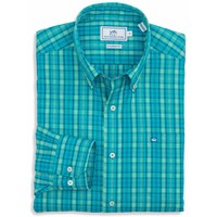 Wentworth Plaid Sport Shirt in Scuba Blue by Southern Tide