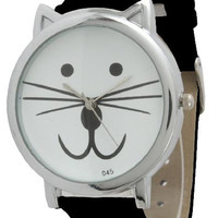 Strap Band Kitty Kat Face Watch