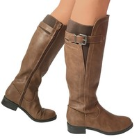 Strong Finish Boots in Camel Buffalo