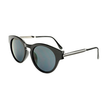 Fashion Designer Style Metal Arms Keyhole Round Sunglasses R95