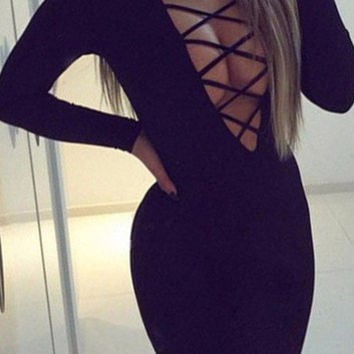 Cupshe Wanted Lace Up Bodycon Dress