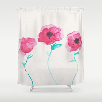Asian Poppies Shower Curtain by DuckyB (Brandi)