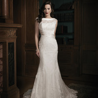 Justin Alexander 8688 Boat Neck Wedding Dress