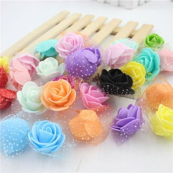 30 pcs / Lot 3 cm bubble New Style Rose heads of flower of flower wreath materials decorate flower bouquet wedding chest