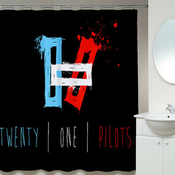 Twenty One Pilots Shower Curtains