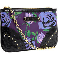 Betsey Johnson Mixed Floral Wristlet Purple - 6pm.com