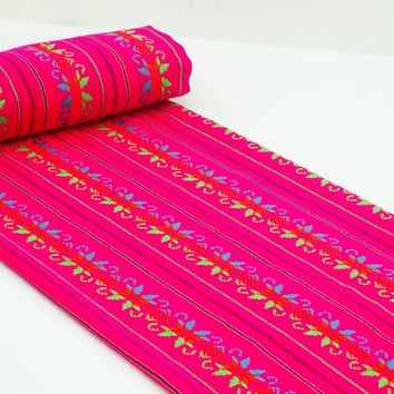 Tribal fabric by the yard, Pink/Star FAB54