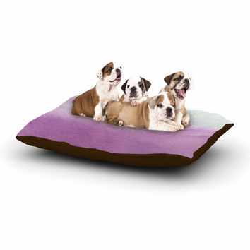 "Li Zamperini ""Ombre"" Green Purple Dog Bed"