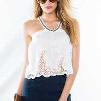 Thelma Beaded Top