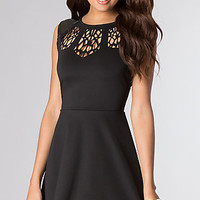 Short Sleeveless Dress with Cut Out Back