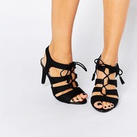 New Look Wide Fit Lace Up Heeled Shoe