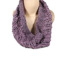 Hand Knit Burnished Rose Gold Cowl