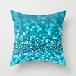 omg-another glitter picture (photograph of glitter) Throw Pillow by Sylvia Cook Photography   Society6