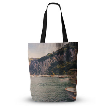 "Violet Hudson ""Boats of Paradise"" Teal Green Everything Tote Bag"