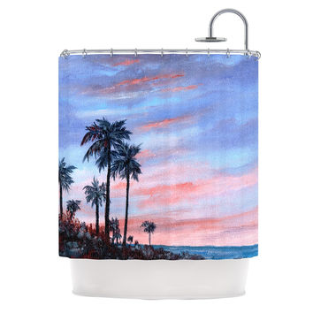"Rosie Brown ""Florida Sunset"" Palm Tree Shower Curtain"