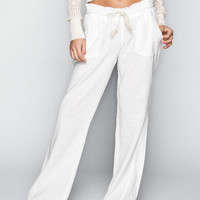 Roxy Ocean Side Womens Pants White  In Sizes