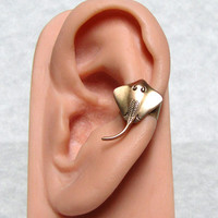 Sting Ray Nautical Ear Cuff by ranaway on Etsy