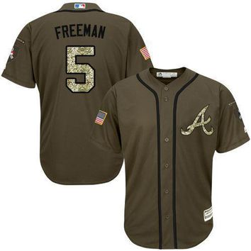 Atlanta Braves Cool Base MLB Custom Salute To Service Jersey