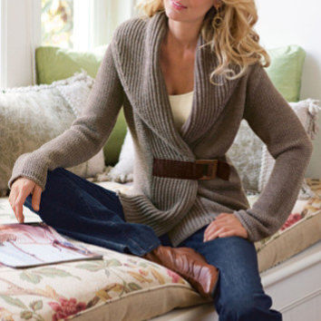 Country Weekend Sweater - Misses Size Sweaters Cardigans, Misses Clothing | Soft Surroundings
