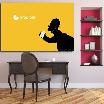 The Simpsons Apple Ipod Wallpaper Wall Art Canvas Nordic Posters Prints Painting Wall Pictures For Office Living Room Home Decor